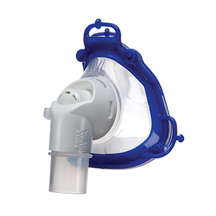 Nasal-hospital-vented-mask-respiratory-therapy-focus-view-resmed